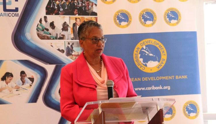 Vice- President Operations Caribbean Development Bank Monica La Bennett,