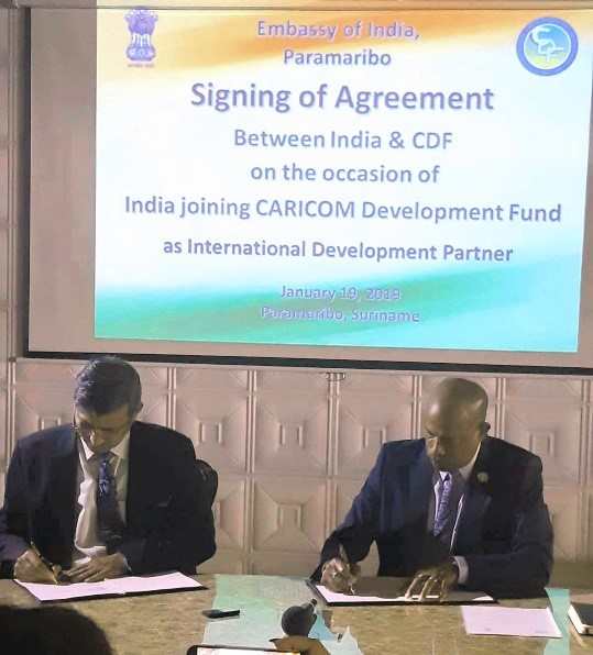 Photo of CARICOM Development Fund (CDF) Signs US$ 1 million Contribution Agreement with Government of India