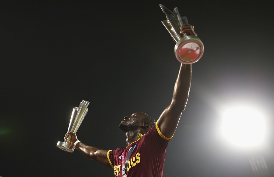 Photo of West Indies captain Darren Sammy's emotional speech at the presentation ceremony of the World T20 final