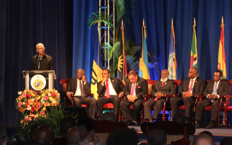 Photo of Address by Brigadier David Granger, MSS President of the Cooperative Republic of Guyana at the Opening of the Thirty–Sixth Regular Meeting of the Conference of Heads of Government of the Caribbean Community, Bridgetown, Barbados 2 JULY 2014