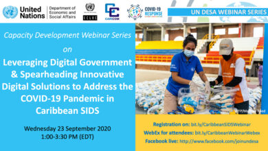 Photo of Webinar on: Leveraging Digital Government and Spearheading Innovative Digital Solutions to address the COVID-19 Pandemic in Caribbean SIDS