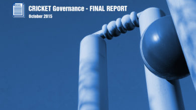 Photo of FINAL REPORT of the Review Panel on the Governance of Cricket