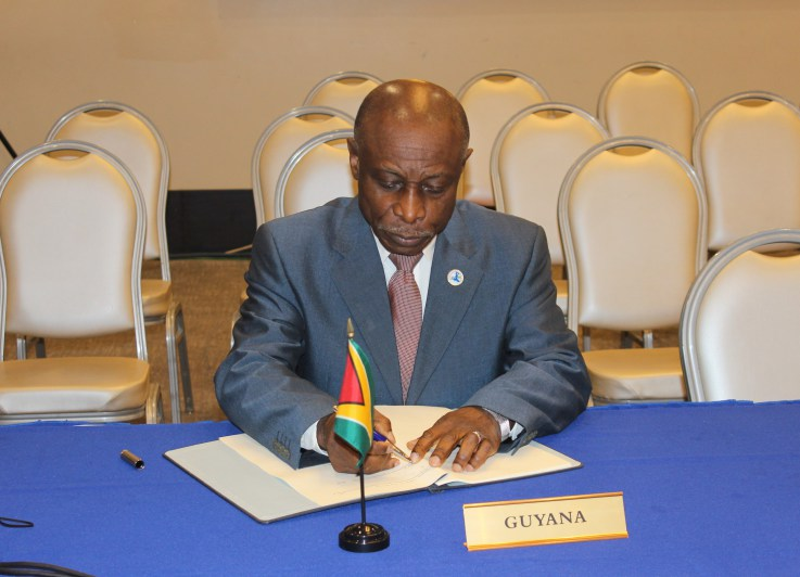 Photo of Guyana signs CXC and MASA Agreements
