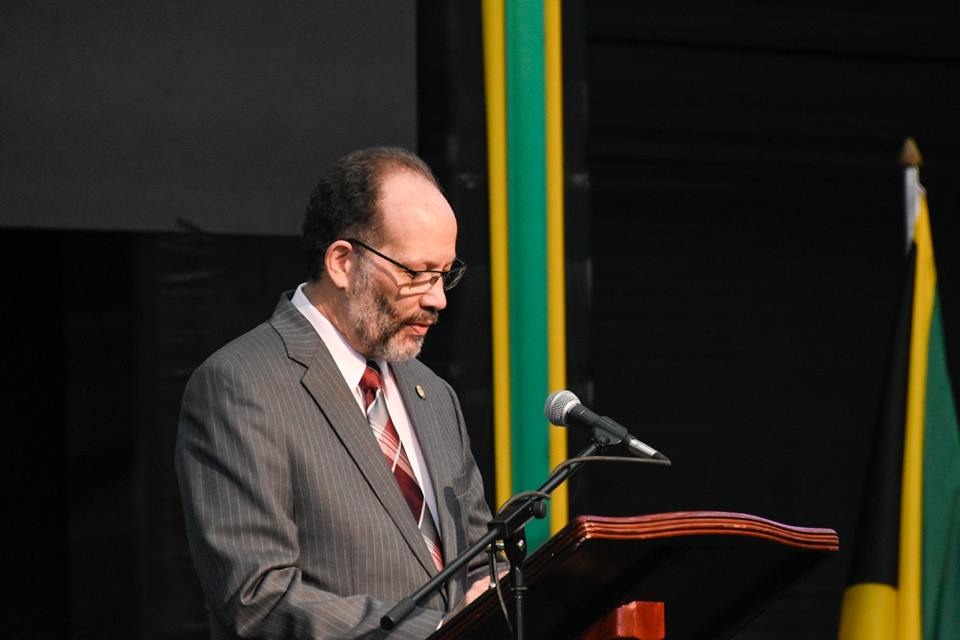 Photo of Remarks, CARICOM SG, Amb. Irwin LaRocque, Opening, 39th Meeting, Conf. of Heads of Govt. of CARICOM, Jamaica, 4 July, 2018