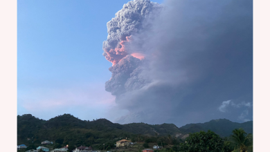Photo of Monday morning update #LaSoufriere Volcano