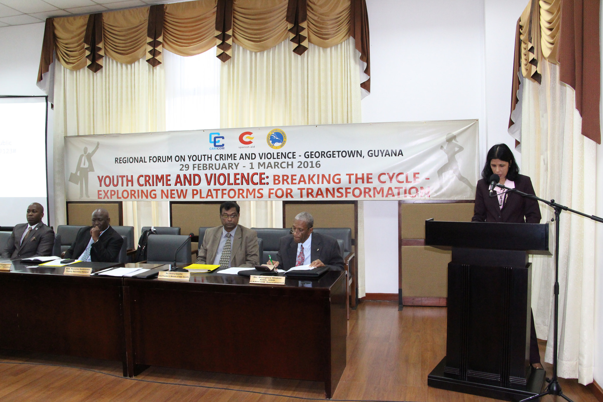 Photo of Remarks By Dr Manorma Soeknandan Deputy Secretary General, Caricom Secretariat At The Caricom Regional Forum Of Youth Crime And Violence, Arthur Chung Conference Centre, Liliendaal, Greater Georgetown, Guyana  29 February – 1 March 2016