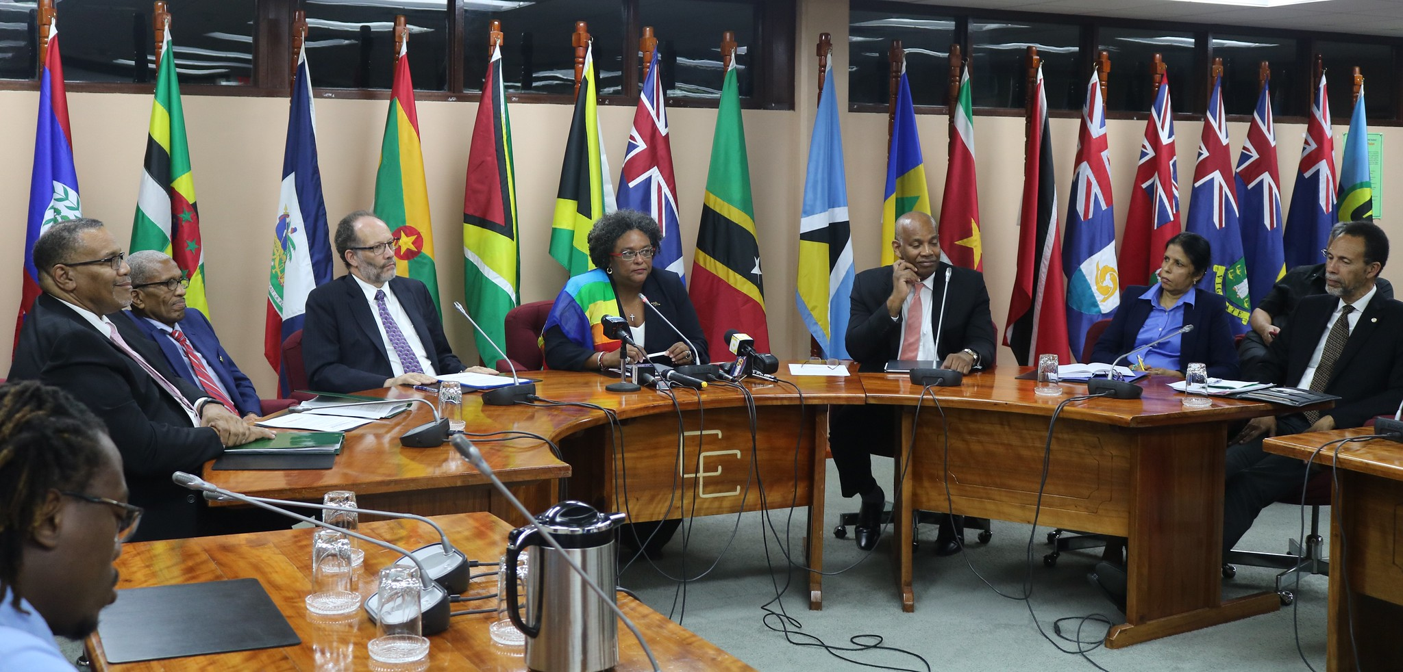 he Chairman, Secretary-General and senior Secretariat Officials at the Press Conference