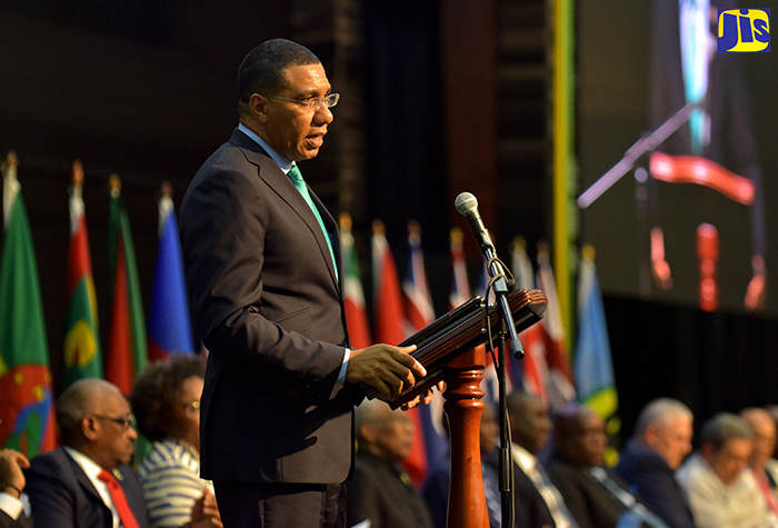 Photo of Opening Statement By the Most Hon. Andrew Holness, Chairman of the Conference of Heads of Governement of CARICOM