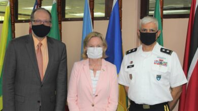 Photo of CARICOM SG gets courtesy call from senior US Military Official