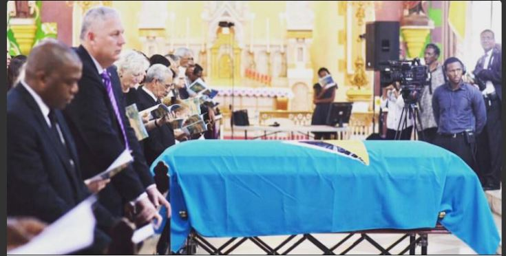 Photo of Derek Walcott laid to rest