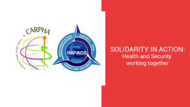 Photo of CARPHA and IMPACS Joint Statement: Solidarity in Action – Health and Security working to protect Front-line Workers in COVID-19 Response