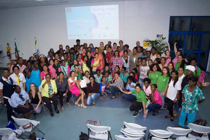 Photo of Suriname school library workers, daughters celebrate Girls in ICT Day