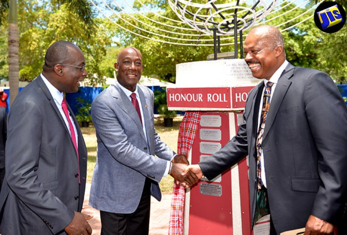 Photo of Dr. Rowley Inducted into PM's Park of Honour at UWI